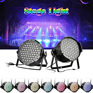 Stage Light, Disco Ball Light, LED DMX512 RGB Wall Wash Light Disco Party Stage Lighting for DJ Club Party Bar Karaoke Wedding Show Live Concert Lighting Show Xmas Home Dance (120W)
