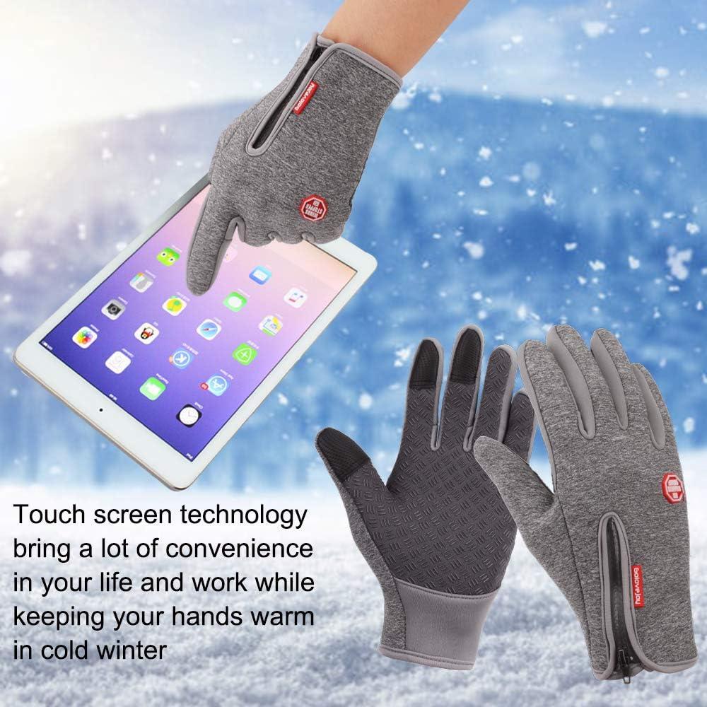 Achiou Touchscreen Winter Gloves for Warm iPhone iPad Bicycling Cycling Driving Anti-Slip Gloves Running Hiking Climbing Skiing Outdoor Sports for Men Women