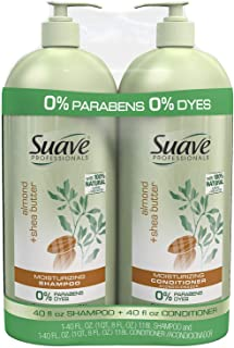 Suave Pro Almond & Shea Butter Shampoo & Conditioner (40 fl.oz, 2 Pack)