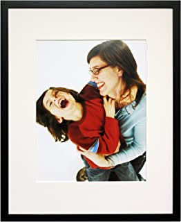 Nielsen Bainbridge Artcare 11x14 Archival Tribeca Collection Black Frame with White Mat for 8x10 Image #WD13A41. Includes: UV Glazed Glass and Anti Aging Liner