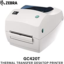 Zebra - GC420t Thermal Transfer Desktop Printer for Labels, Receipts, Barcodes, Tags, and Wrist Bands - Print Width of 4 in - USB, Serial, and Parallel Port Connectivity (Includes Peeler) (Renewed)