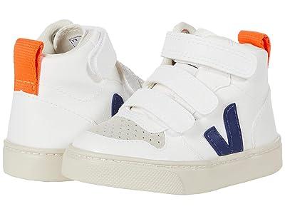 VEJA Kids V-10 Mid (Toddler) (White/Cobalt/Orange Fluo) Kids Shoes