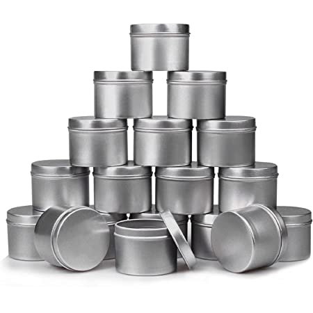 Metal Cans with Lids Exquisite Bohemian Style Containers Zariocy 4 Pcs Candle Tin Jars DIY Candle Making Kits for Party Gifts Wedding Candy Jar Container Decorate
