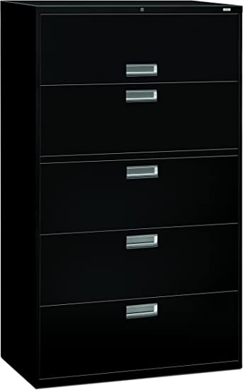 Hon 5 Drawer Filing Cabinet 600 Series Lateral Or Legal Filing Cabinet 42w By 19 1 4d 5 Drawer Black H695 Furniture Decor