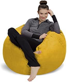 صندلی کیسه ای مبل - مخمل خواب دار ، صندلی باقلا فوق العاده نرم - صندلی کیسه ای با اسفنج مموری با پوشش میکروسنگید - مبلمان و لوازم جانبی پر شده با فوم پر شده برای اتاق خواب - لیمو 3 '