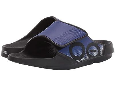 OOFOS OOahh Sport Flex (Black/Sapphire) Running Shoes