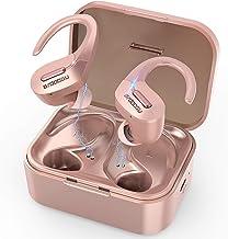 BRDOOGU Bluetooth 5.0 Wireless Earbuds,Truly Wireless Sport Headphones IPX5 Waterproof Wireless Earphones 50H Cycle Play Time,with Charging Case 1000mAh Built-in Microphone-Rose Gold