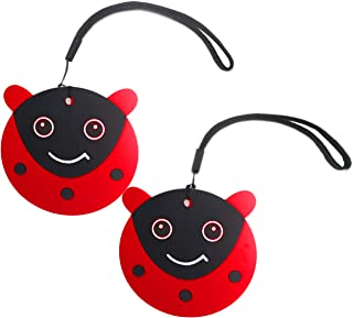 Cute Luggage Tags for Kids - Personalized Bag Tag Girls Boys Set 2 LADYBUG