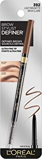 L'Oreal Brow Stylist Definer Waterproof Eyebrow Pencil, Light Brunette 0.003 Ounce (1 Count)