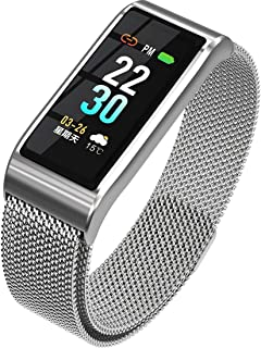 "Smart Bracelet, 0.96"" IPS Color Display Watch Heart Rate Blood Pressure Gauge Information Reminder Waterproof Anti-Lost Fitness Tracker"