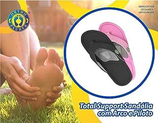 Sandália Total Support com Arco e Piloto, Ortho Pauher, Rosa, 35/36