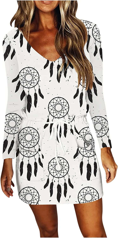 TAYBAGH Summer Dresses for Women V Neck Stripe Sleeveless Spaghetti Strap Dress Casual Sling Mini Dress with Drawstring