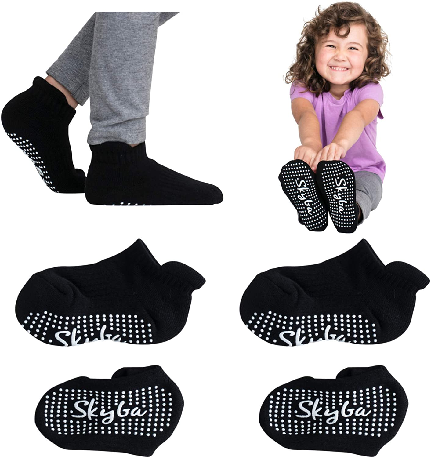 Regular discount Skyba Toddler Socks With Slipper SEAL limited product - Grips Trampoline