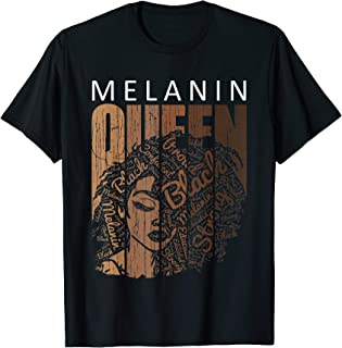 Melanin Queen Tee African American Strong Black Natural Afro T-Shirt