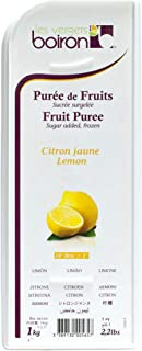 Boiron Lemon Fruit Puree - 2.2 lbs - Finest Fruit Puree for Cocktails, Smoothies, Healthy Drinks from France