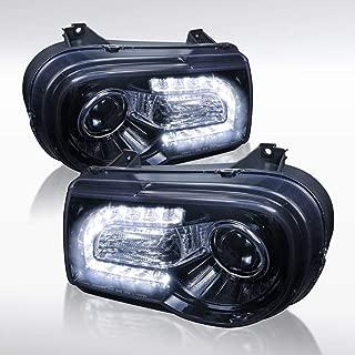 Autozensation For Chrysler 300C Glossy Black/Smoke LED Projector Headlights