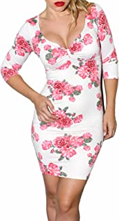 Demi Loon Floral & Pink Pinup Dress | Casual Long Sleeve Dress