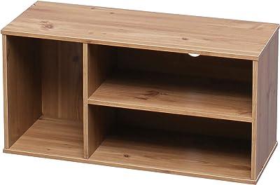 Marca Amazon - Movian Mueble de TV con 3 nichos de almacenaje para pantalla de 28 pulgadas - Madera de ingenieria, roble claro, L73.2 x D29 x A36.6 cm