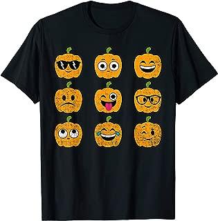 Pumpkin Emoji Shirt Halloween Emoticon Easy Costume Gift