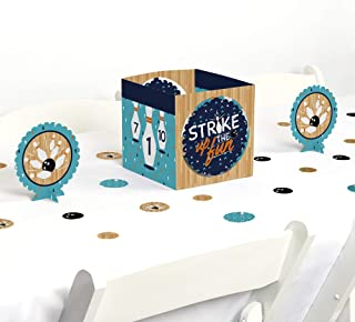 Big Dot of Happiness Strike Up the Fun - Bowling - Birthday Party or Baby Shower Centerpiece and Table Decoration Kit