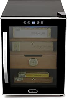 Whynter CHC-122BD Elite Touch Control Stainless Cigar Cooler, Black Humidor, One Size,