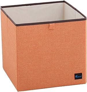 Lin De Coton Pliable Boîtes De Rangement,Portable Stackable Caisses De Rangement,Économie D'espace De Couleur Solide Panie...