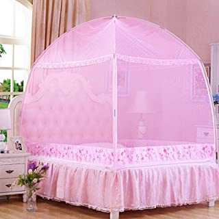 CdyBox Princess Mosquito Net Bed Tent Canopy Curtains Netting with Stand Fits Twin Full Queen (Pink, Twin-XL)