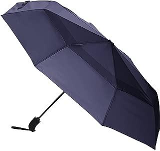 AmazonBasics Umbrella with Wind Vent (Auto-Open & Close Function) - Navy Blue
