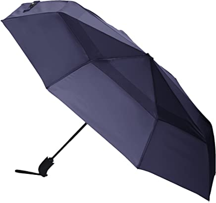 AmazonBasics Umbrella with Wind Vent, Navy Blue