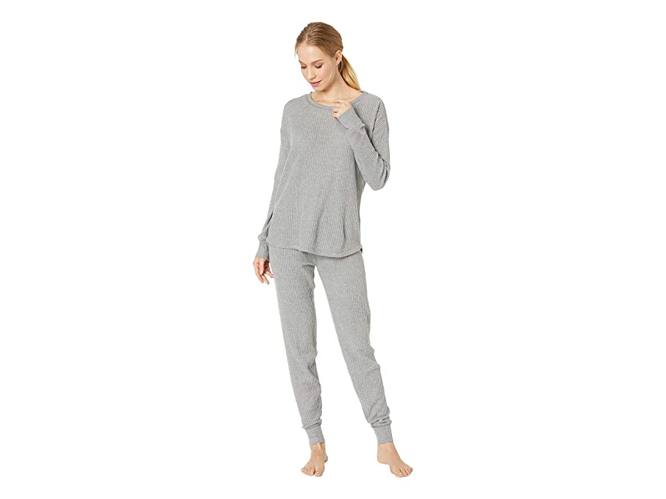 P.J. Salvage Starlet Ski Jammies PJ Set (Heather Grey) Women