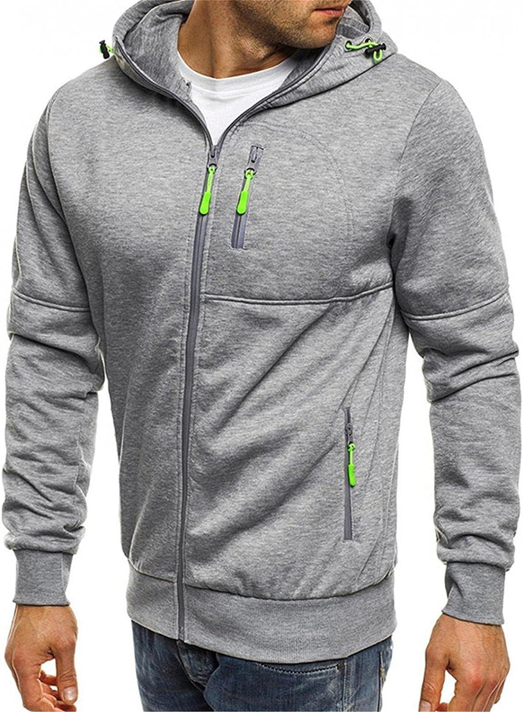 Hoodies for Men Men Hoodies Winter Men's Splice Cap with Long Sleeve Zip Sweater Tops Blouse Fashion Hoodies and Sweatshirts
