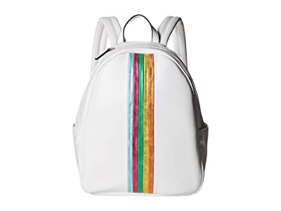 Betsey Johnson Between the Lines Backpack (White) Backpack Bags