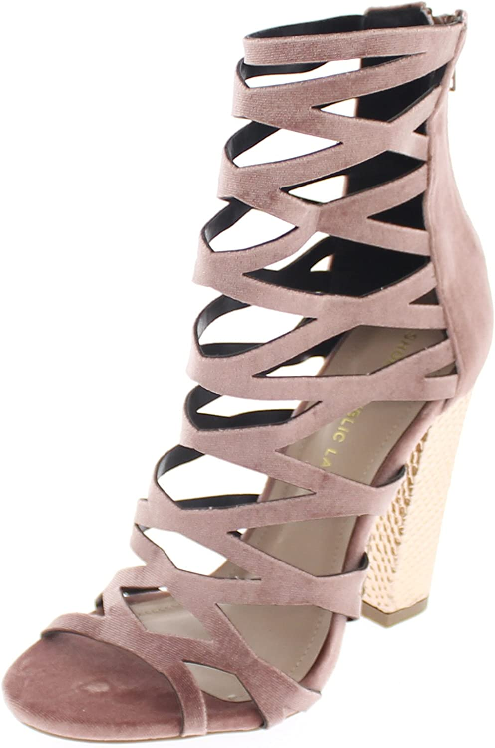 shoes Republic Gladiator Open Toe Ankle High Sandal Shimmy