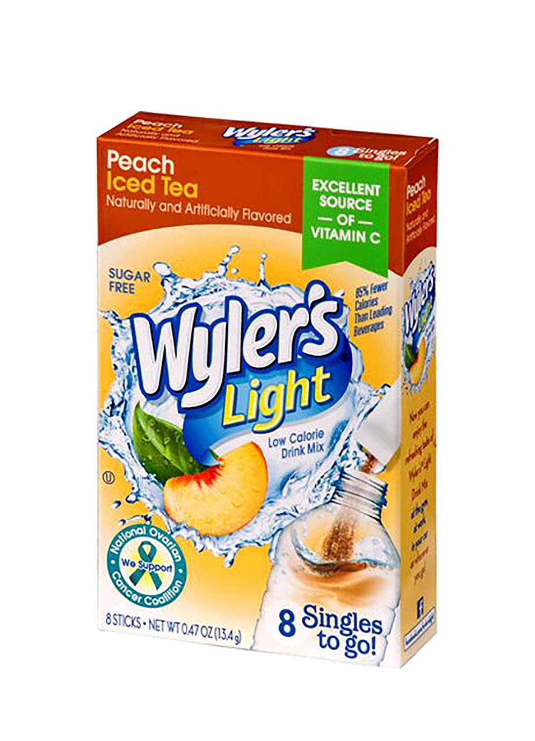 Wyler's Light Singles-To-Go Purchase Sugar Free Peach Tea free shipping Mix Iced Drink