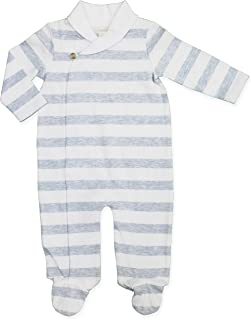 Clasix Beginnings Footed Coverall Boys Stripe Nautical