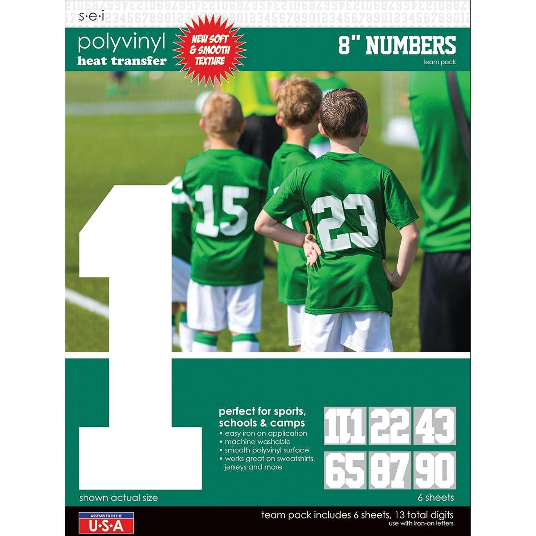 ESI SEI Sport Letter Polyvinyl Heat Transfers Scrapbook, Multi-Colour, 25.4 x 34.92 x 0.17 cm