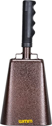10 Inch Steel Cowbell with Handle Cheering Bell for Sports Events Large Solid School Bells & Chimes Percussion Musica...