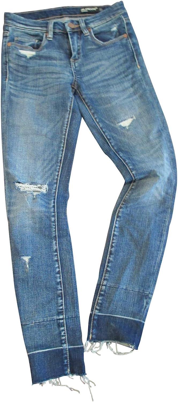 [BLANKNYC]]]] Blank NYC Women's bluee Steel Raw Hem Cropped Jeans,