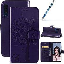 Robinsoni Case Compatibel met Huawei P30 Lite Case PU Lederen Case Portemonnee Case Glossy Bling Cover Glitter Notebook Ma...