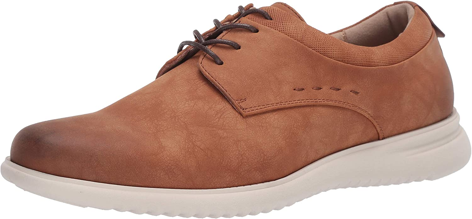 Unlisted by Kenneth Cole Men's Nio Lace Up Pt Oxford, Cognac, 10