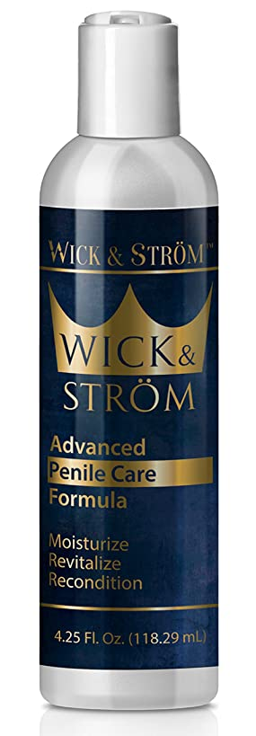 Penile Cream Moisturizer - Helps Reduce Chafing and Dry Irritated Skin - Dermatologist and Urologist Approved - Wick & Strom - 4.25 oz
