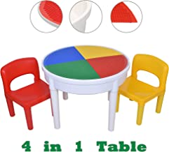 SEIGNEER seig neer 4en 1Mesa y Silla kindermbel–Mesa Infantil con 2sillas Infantil Mesa de Juegos Caja and Water