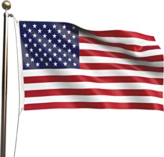 VWMYQ American Flag US 3x5 Flag - Vivid Color and Fade Resistant USA Flags - 100% Durable Polyester with Brass Grommets -C...