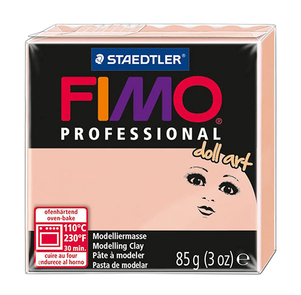 Staedtler Fimo Professional Doll Art Clay, 3-Ounce, Rose Semi and Rose Semi-Opaque