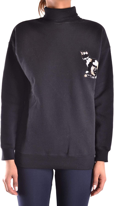 Msgm Women's MCBI28225 Black Cotton Sweatshirt