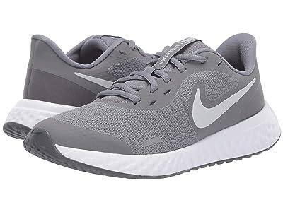 Nike Kids Revolution 5 (Big Kid) (Cool Grey/Pure Platinum/Dark Grey) Boys Shoes