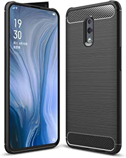 FanTing Case for Oppo Reno, Anti-Slip Ultra Thin Shock Absorption Anti Scratch Protective, Cover for Oppo Reno -Black