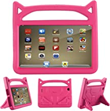 All-New Fire 7 2019 Case,Fire 7 Tablet Case,Riaour Kids Shock Proof Protective Cover Case for Amazon Fire 7 Tablets (Compatible with 5th Generation 2015/7th Generation 2017/9th Generation 2019) (Rose)
