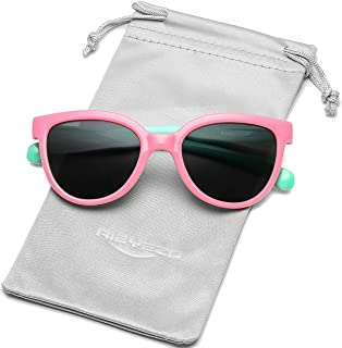 Kids Polarized Sunglasses TEPP Rubber Flexible Sun Glasses UV Protection, for Girls Boys Age 3-10