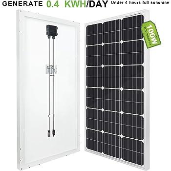 eco-worthy pannello solare policristallino, 100Watt, 12Volt, per la carica della batteria